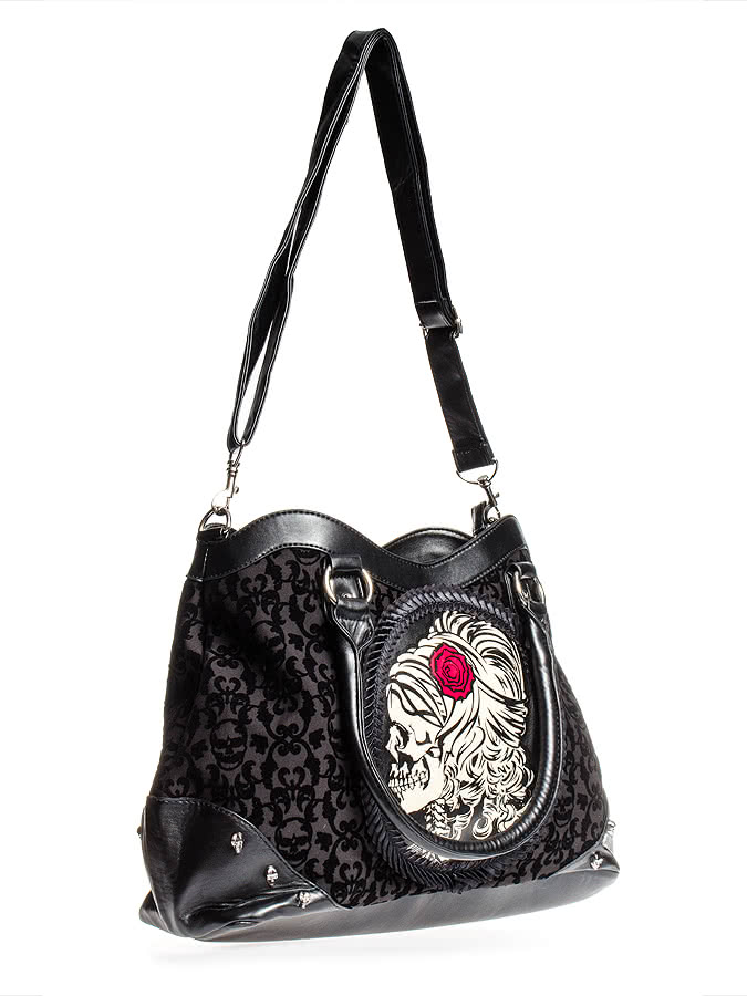 Banned Lady Skeleton Bag (Black)