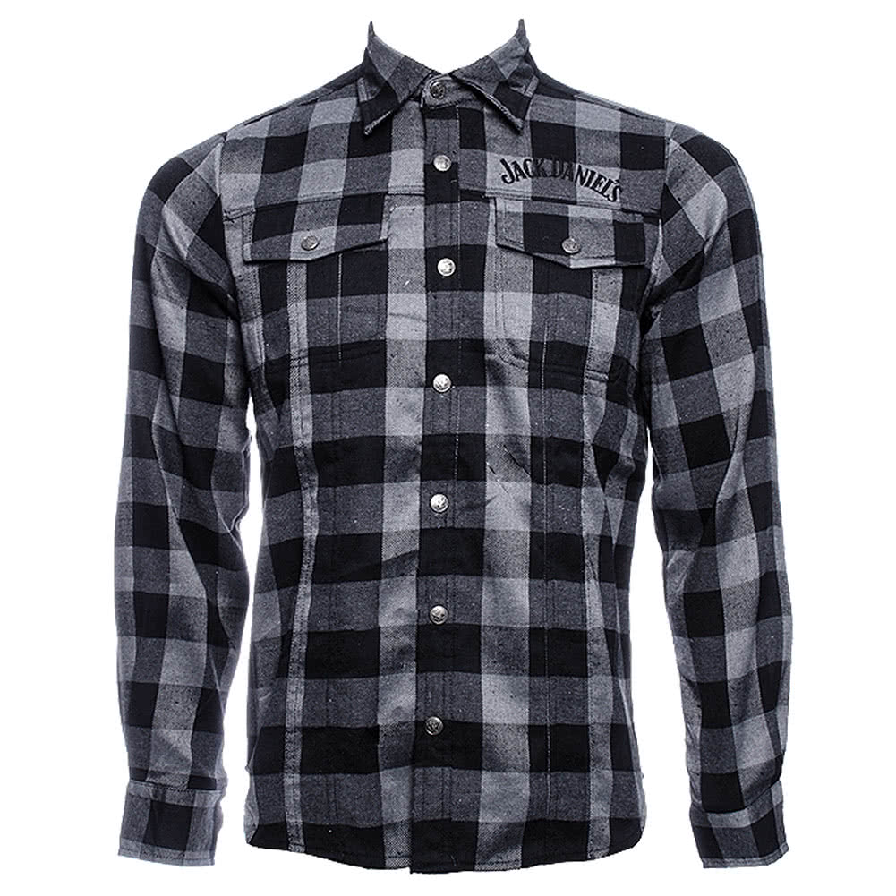 Jack Daniels Checked Shirt (BlackGrey)