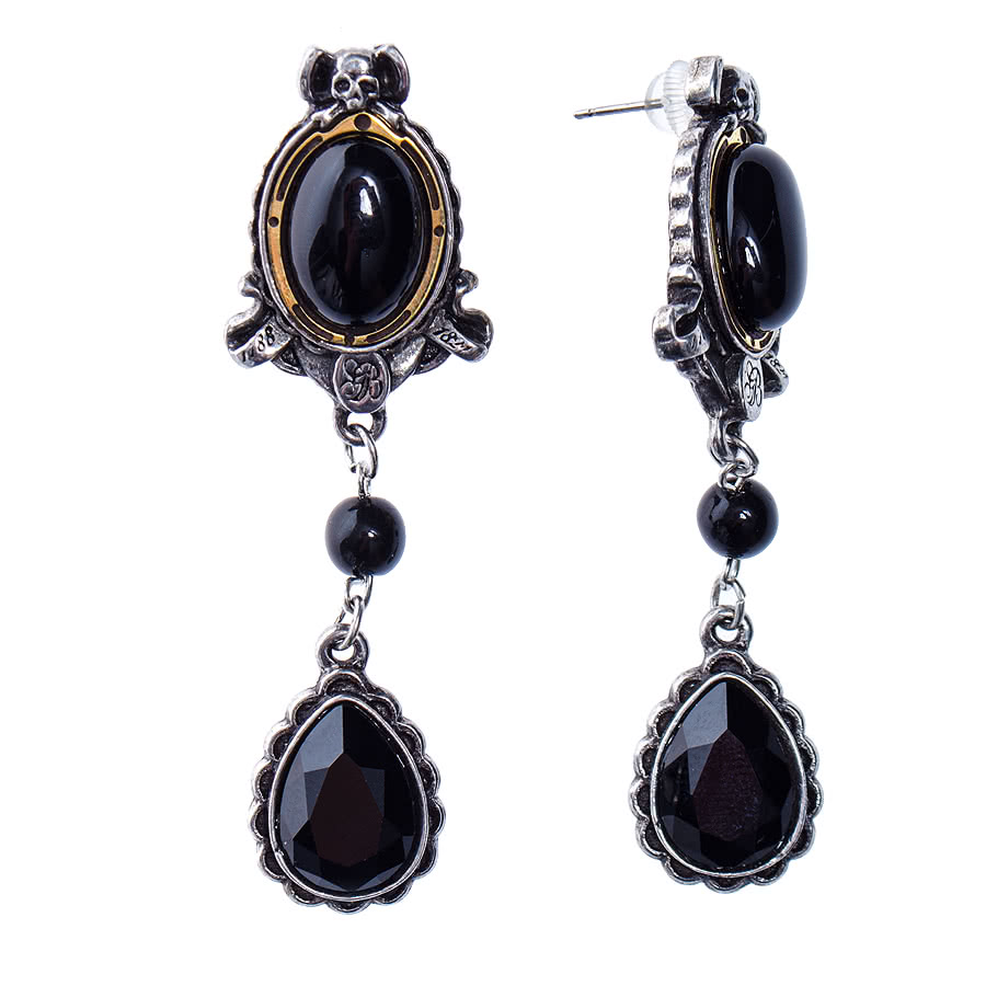 Alchemy She Walks In Beauty Earrings (Black/Silver)