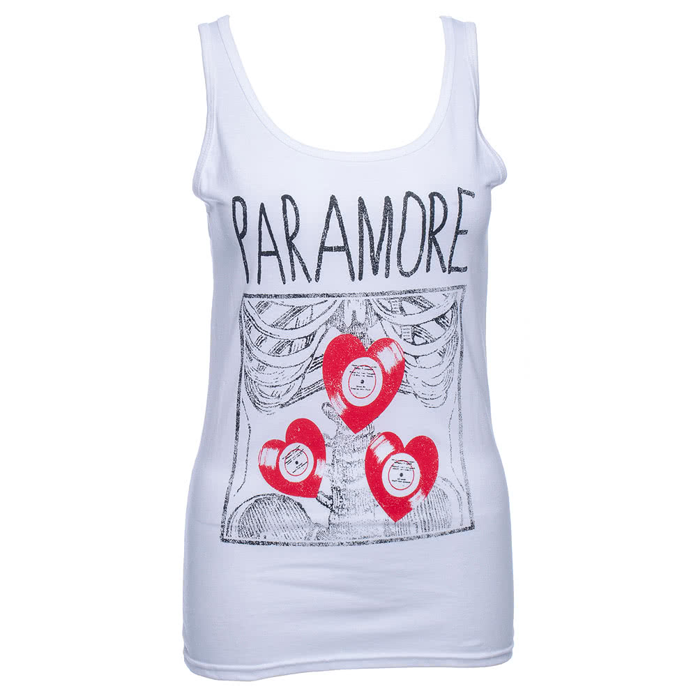 Paramore X-Ray Tank Top (White)