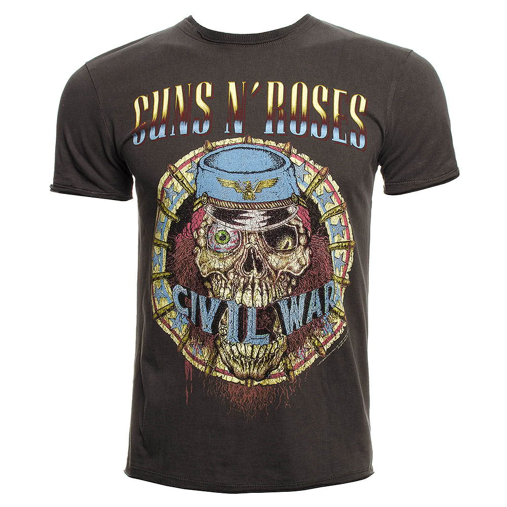 Amplified Guns N Roses Civil War T Shirt (Black)