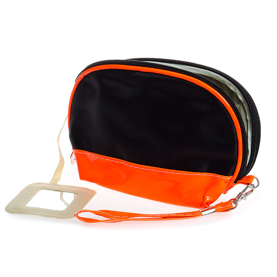 Blue Banana Make Up Bag (Black/Orange Trim)