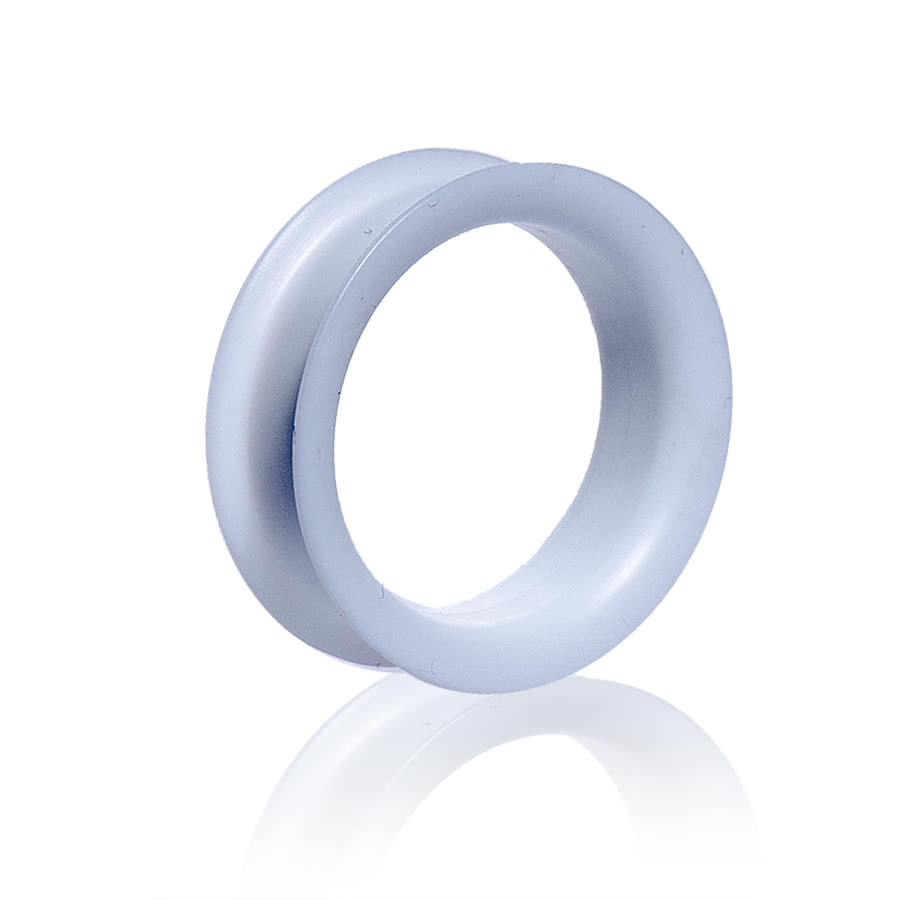 Blue Banana Silicon Eyelet Tunnel 32-34mm (White)