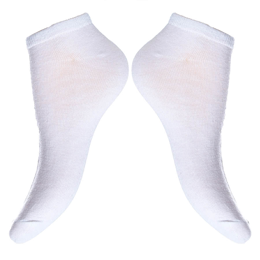 Blue Banana Trainer Socks (White)