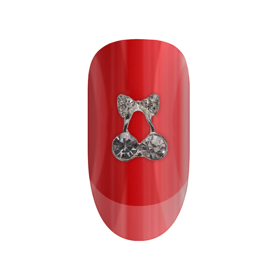 Blue Banana Nail Art 2PK Cherries/Bow (Clear)