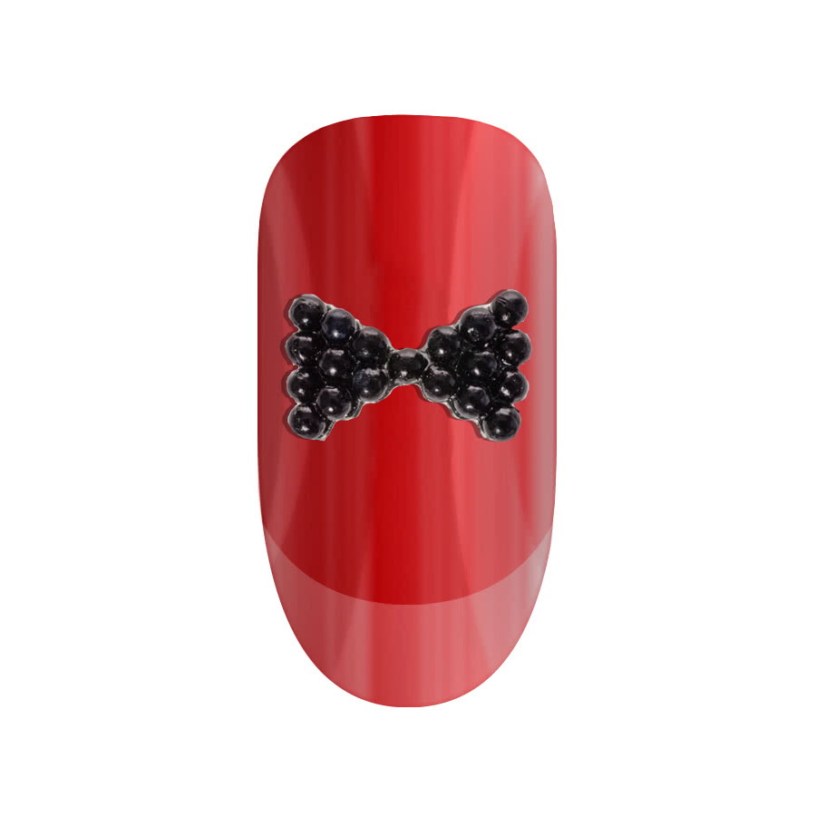 Blue Banana Nail Art 2PK Bow (Black)