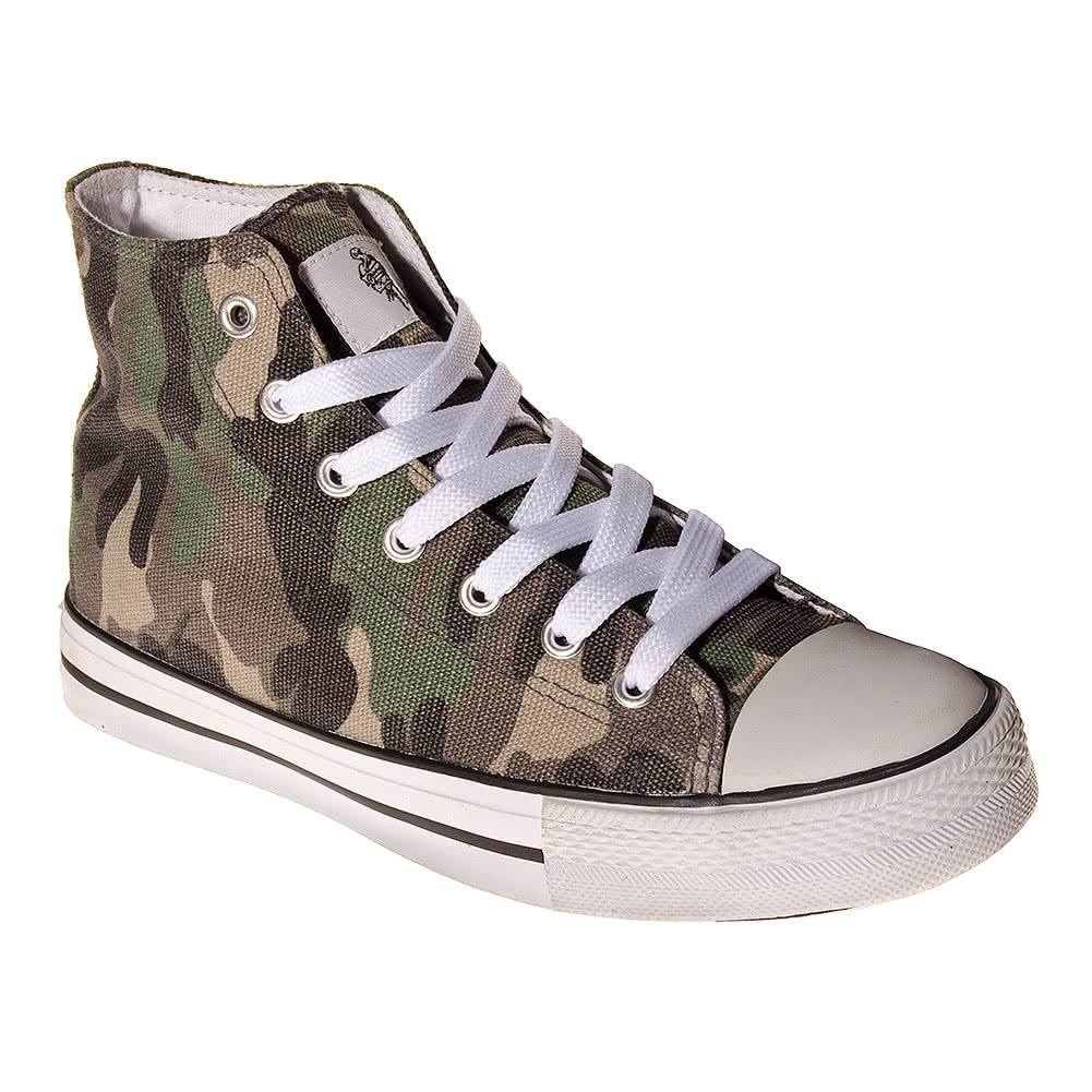 Bleeding Heart Camo Canvas Hi Tops (Camouflage)