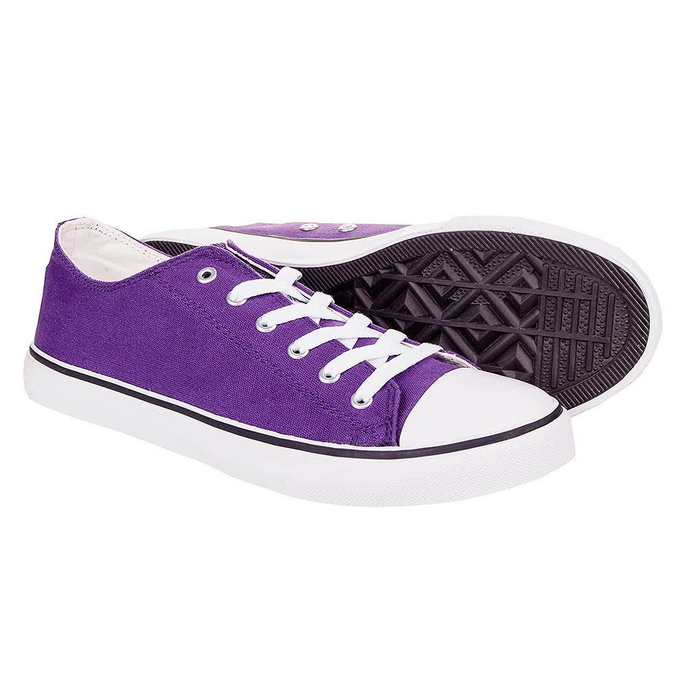 bleeding purple canvas trainers womens trainers