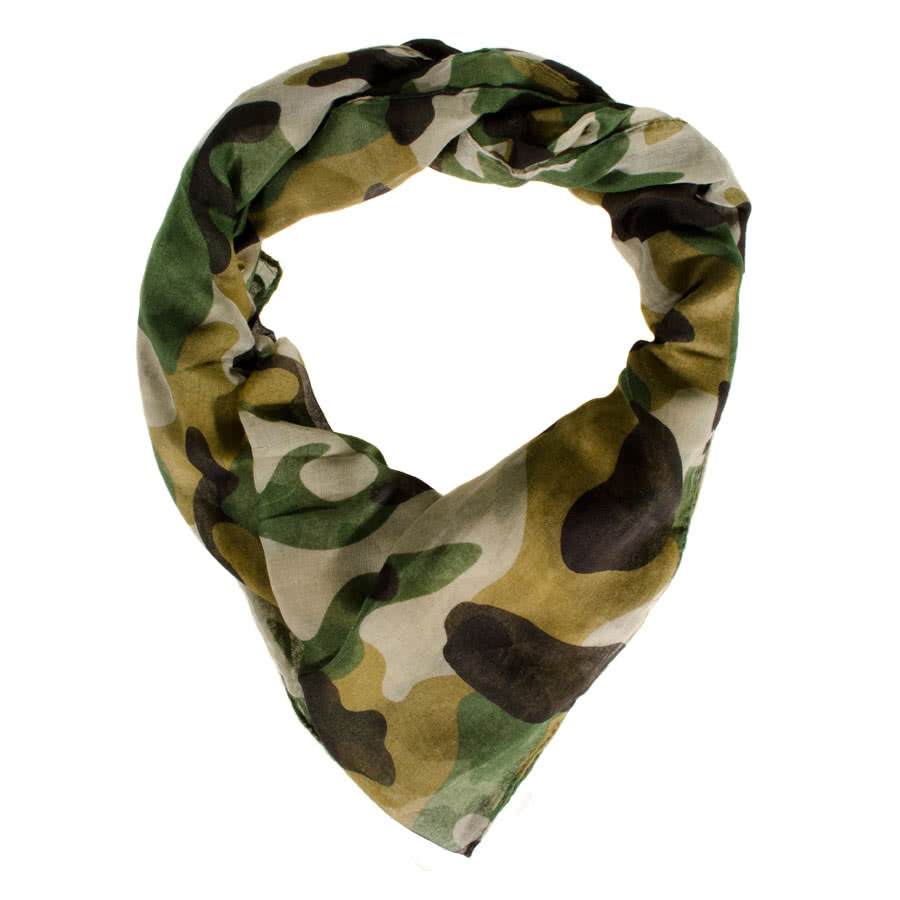 Blue Banana Camouflage Scarf (Green)