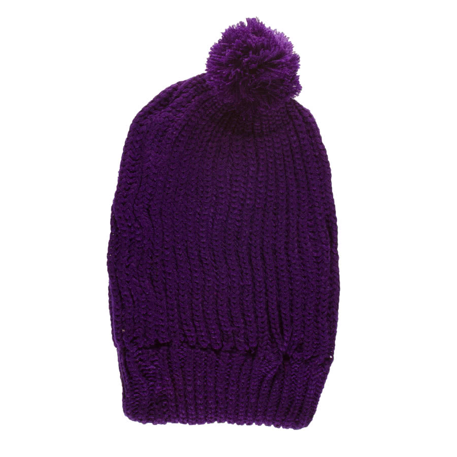 Blue Banana Bobble Slouch Beanie (Purple)