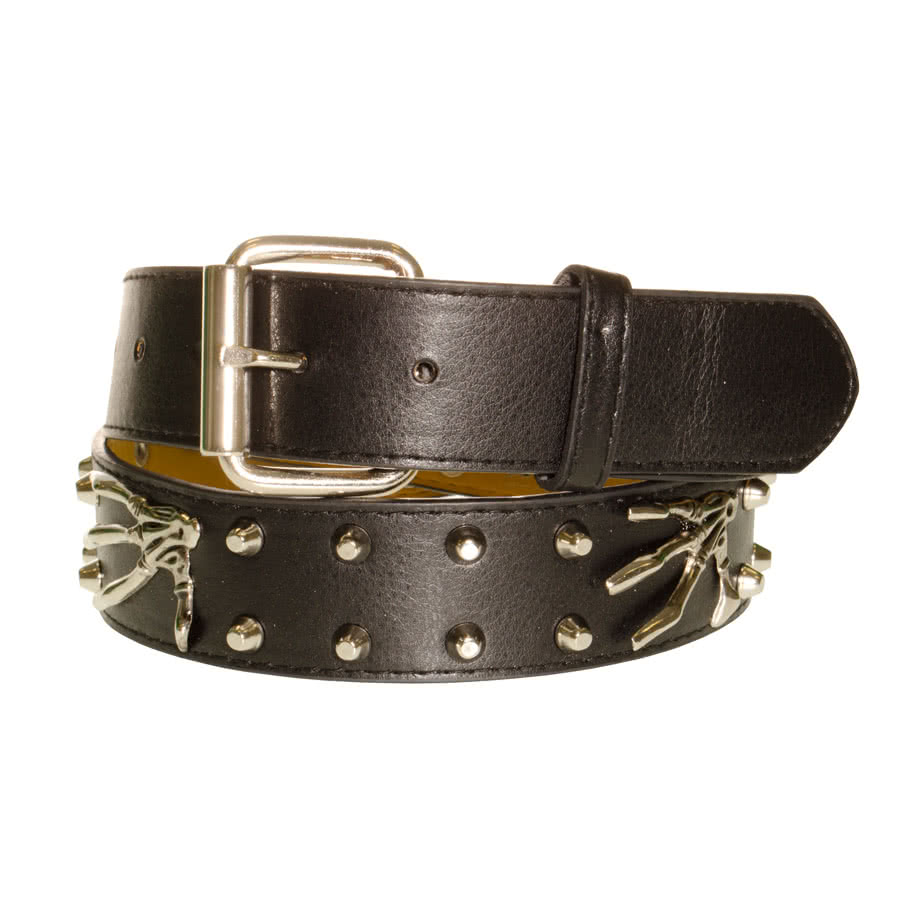 Blue Banana Hand & Studded Belt (Black)