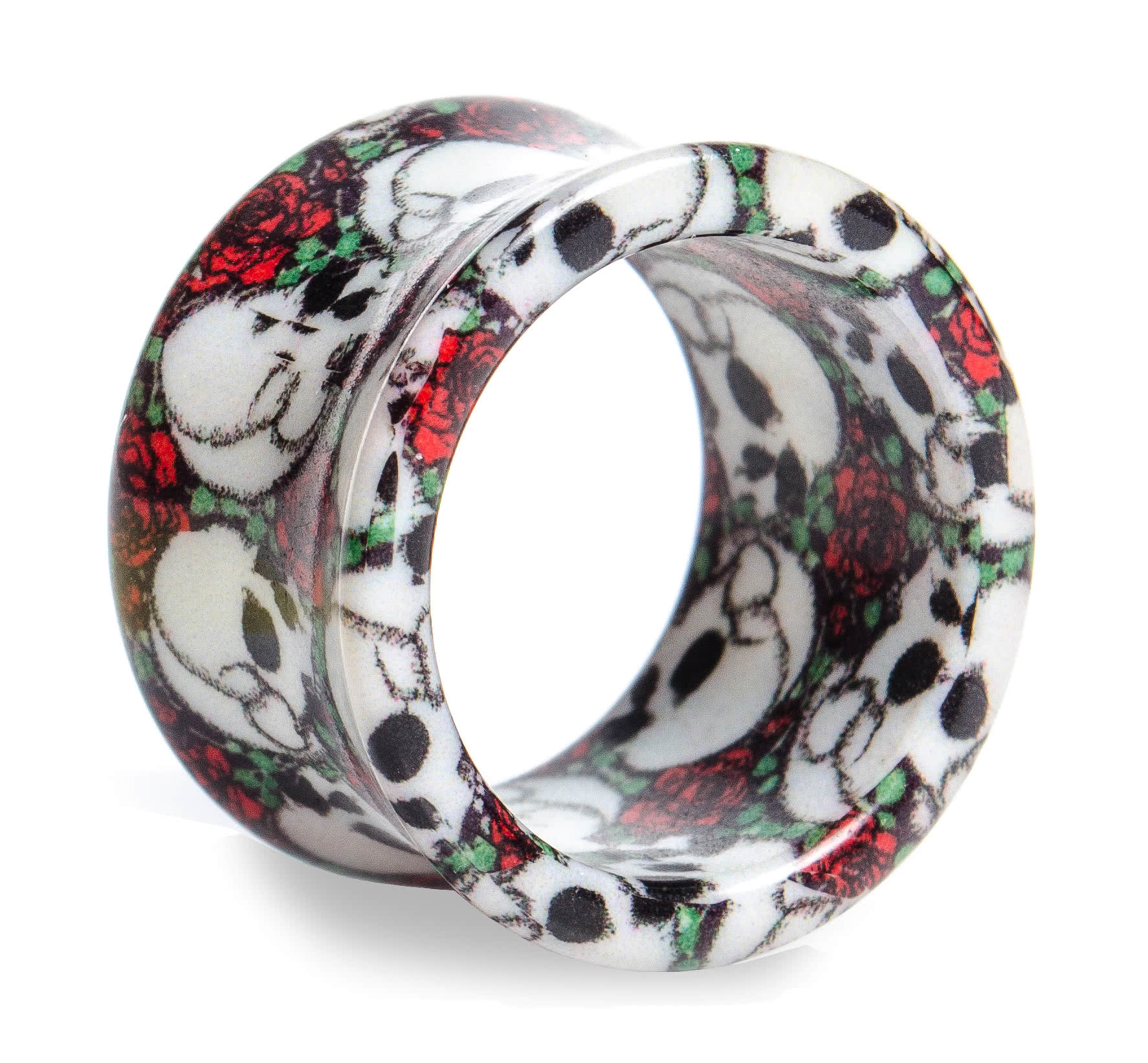 Blue Banana Rose Skull Tunnel (Black/White/Red)