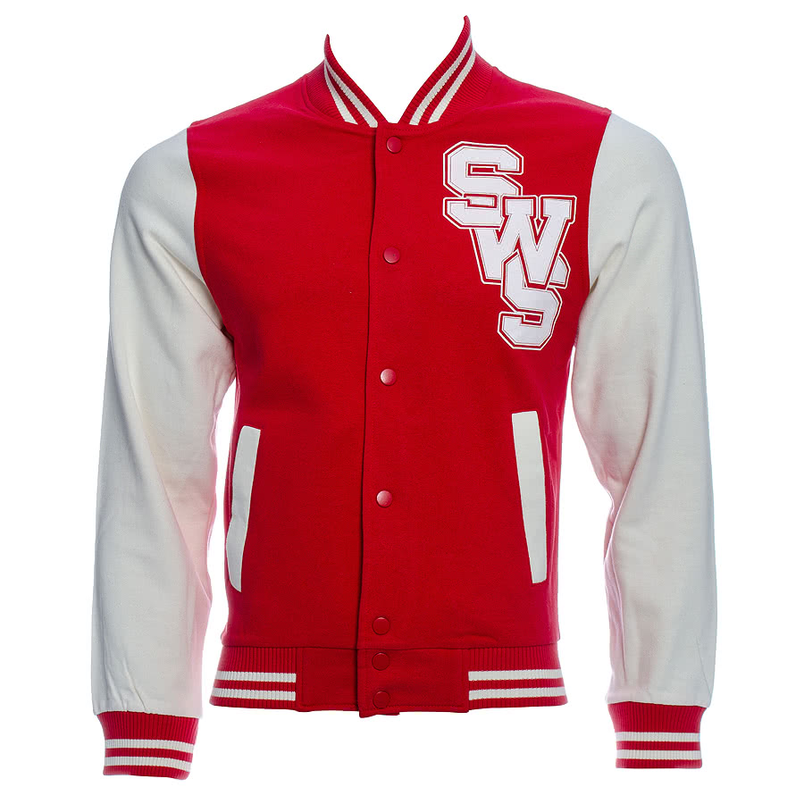 Sleeping With Sirens Varsity Jacket (Red)