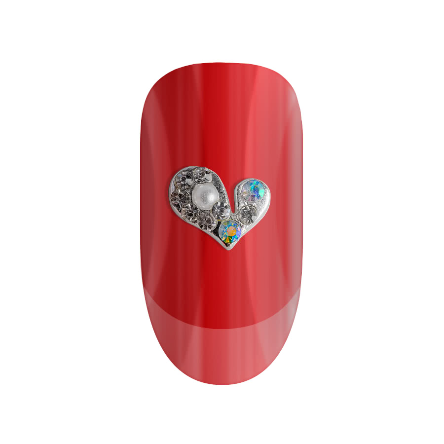 Blue Banana Pack of Two Pearl Heart 3D Nail Art