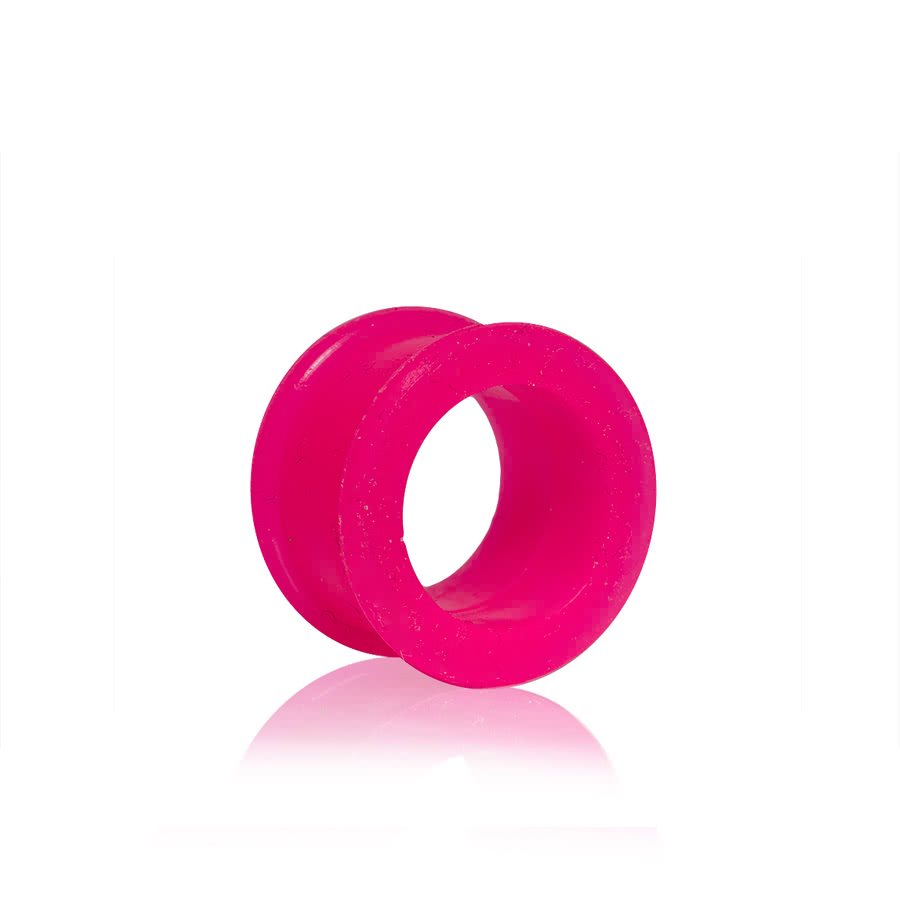 Blue Banana Silicon Flesh Tunnel (Pink) 3-12mm