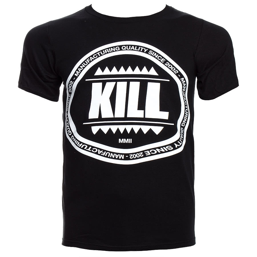 Kill Brand Swag Logo Circle T Shirt (Black)