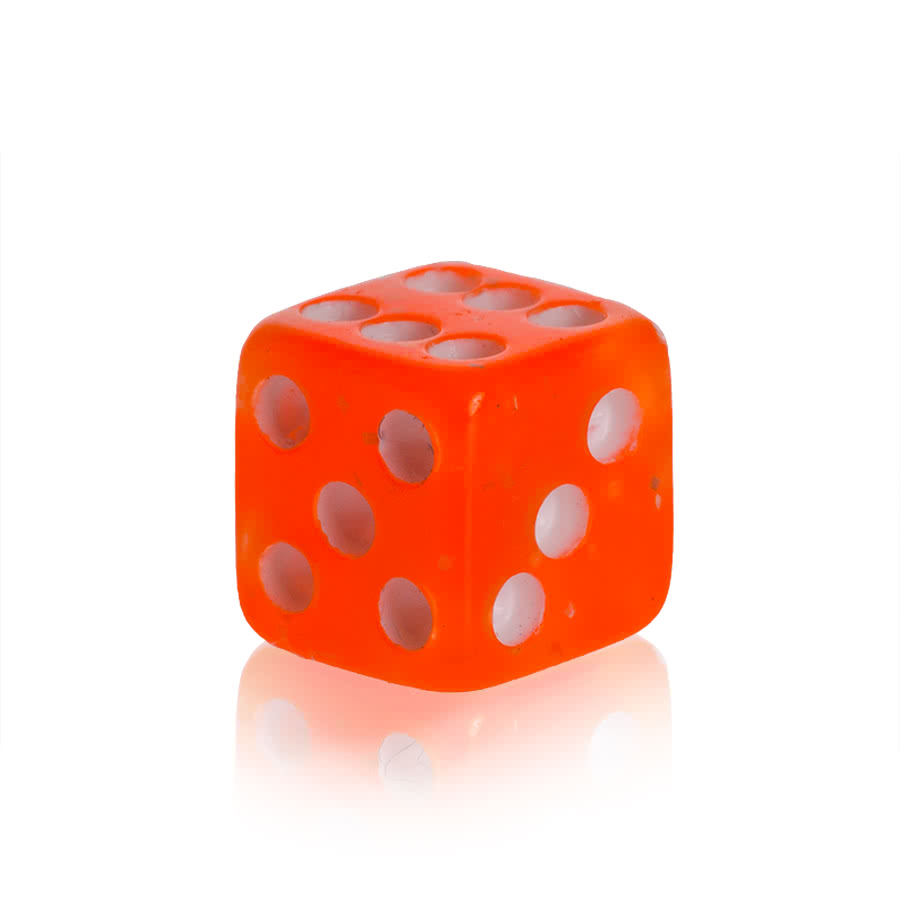 Novelty Dice 5mm Add On (UV Orange)