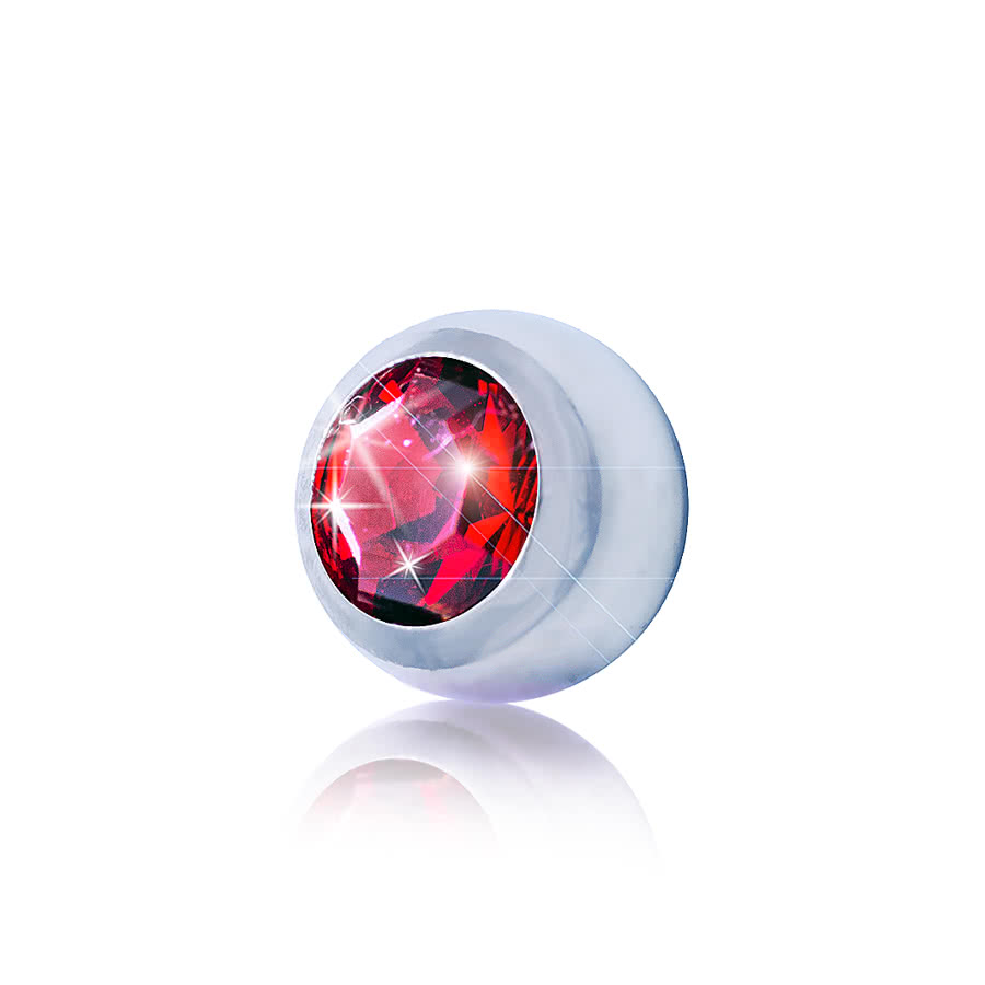 Blue Banana 3mm Steel Jewelled Ball (Siam)