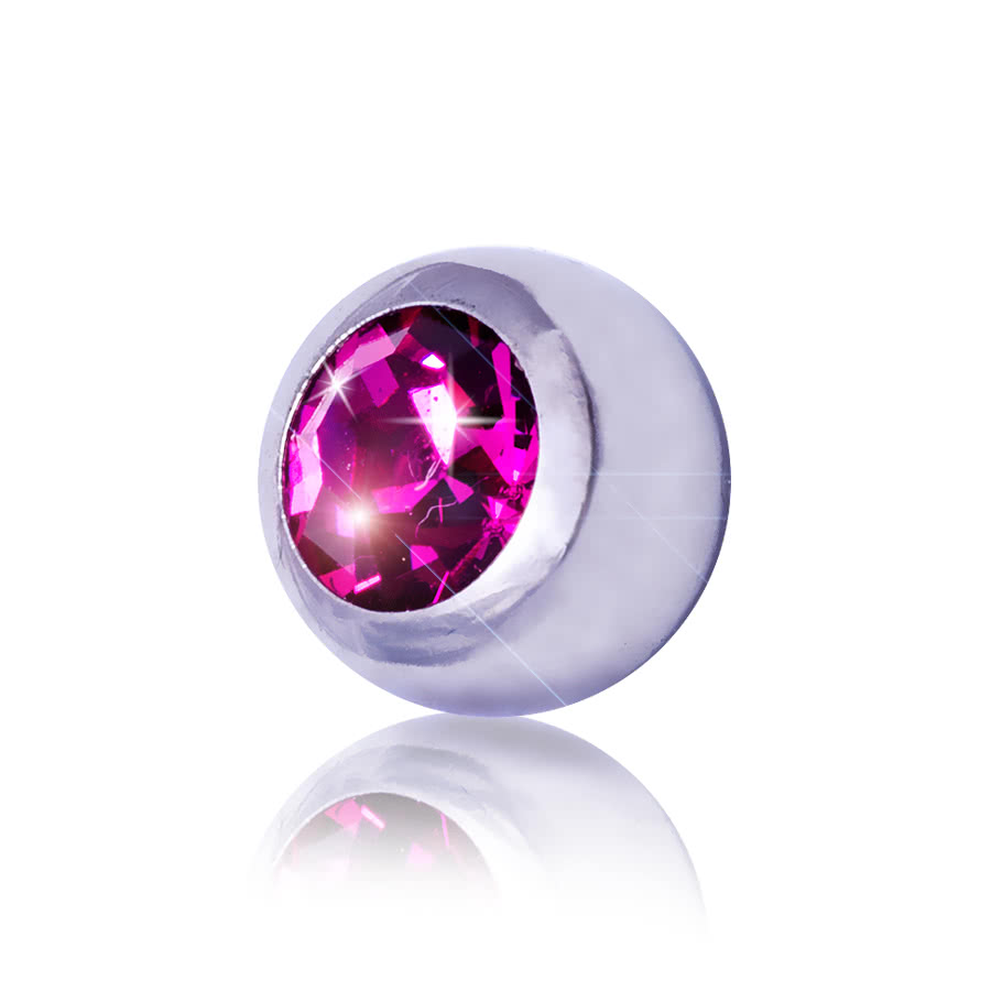 Blue Banana 5mm Steel Jewelled Ball (Fuchsia)