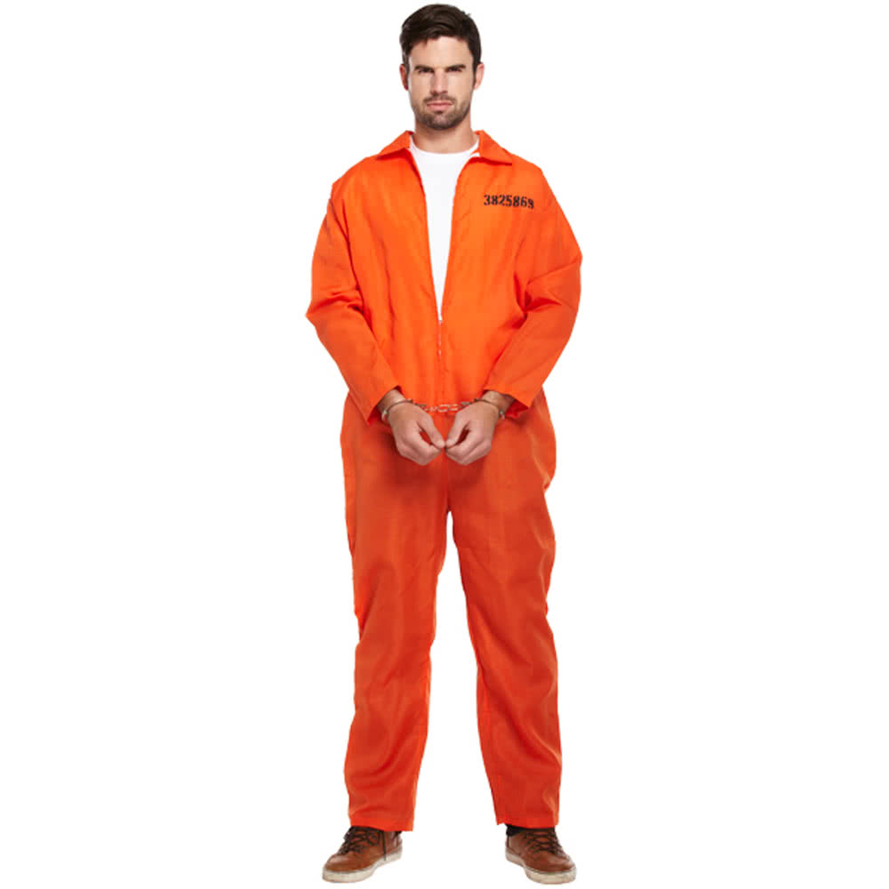 Prisoner Fancy Dress Costume (Orange)
