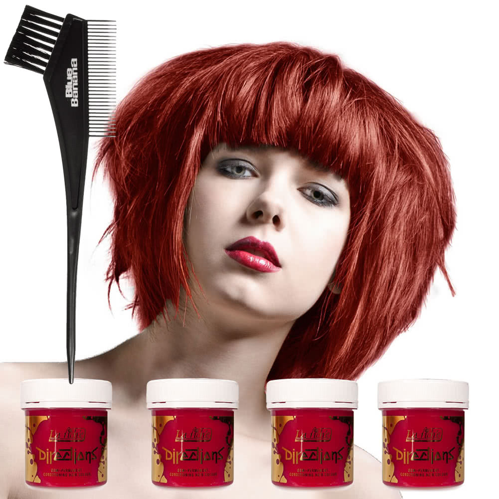 La Riche Directions Hair Dye 4 Pack (Poppy Red)