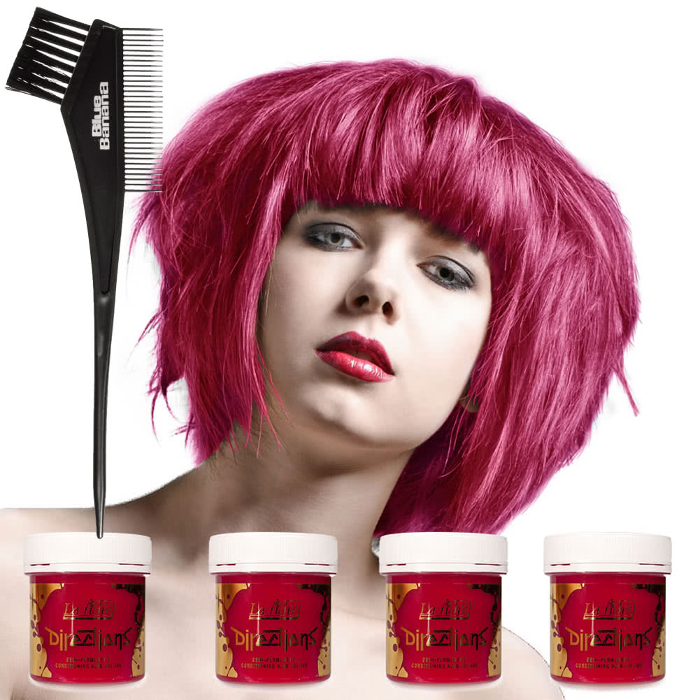 La Riche Directions Hair Dye 4 Pack (Pink Carnation)