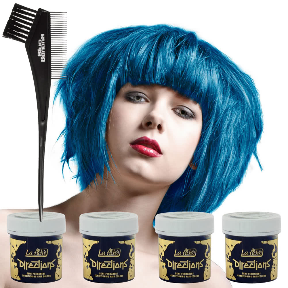 La Riche Directions Hair Dye 4 Pack (Lagoon Blue)