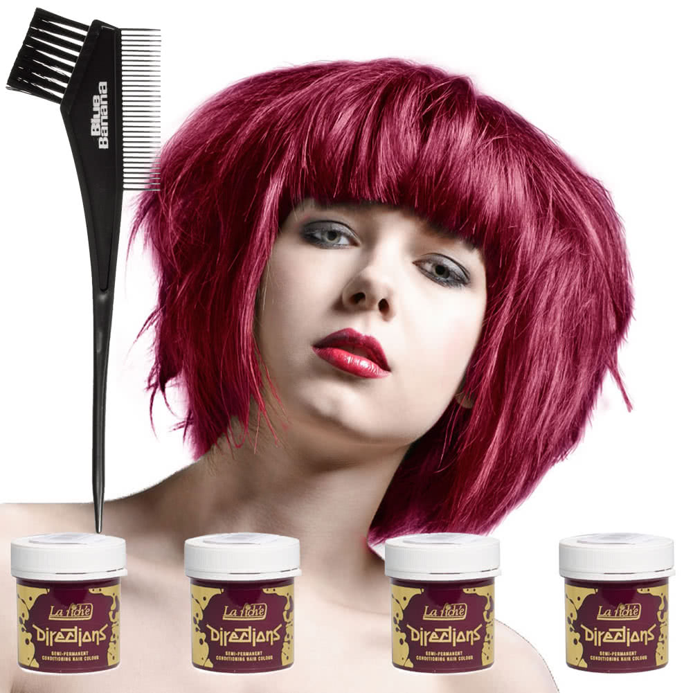 La Riche Directions Hair Dye 4 Pack (Rose Red)