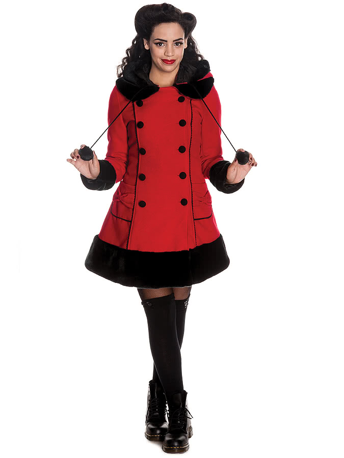 Hell Bunny Sarah Jane Coat (Red)