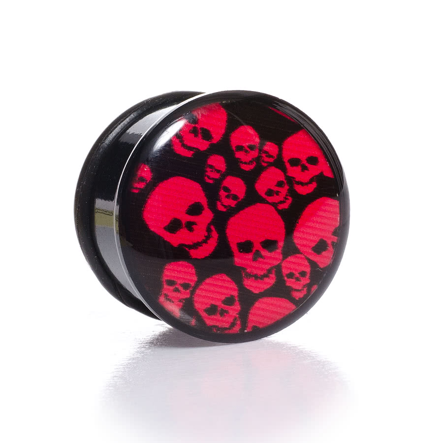 Blue Banana Skull Plug 12-22mm (Red)