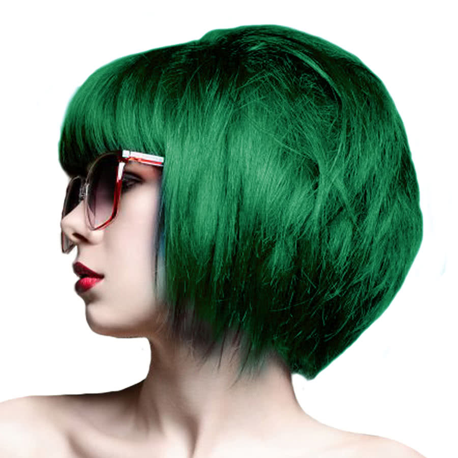 Crazy Color Semi-Permanent Hair Dye 100ml (Emerald Green)