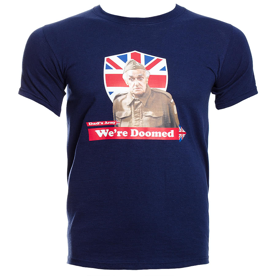 Dad's Army We're Doomed T Shirt (Navy)