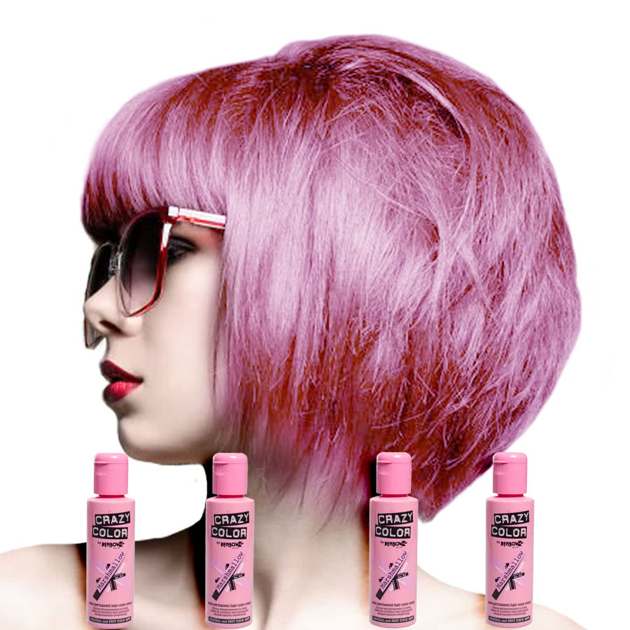 colors for short hair styles color semi permanent marshmallow hair dye 4 pack 4055 | 72970