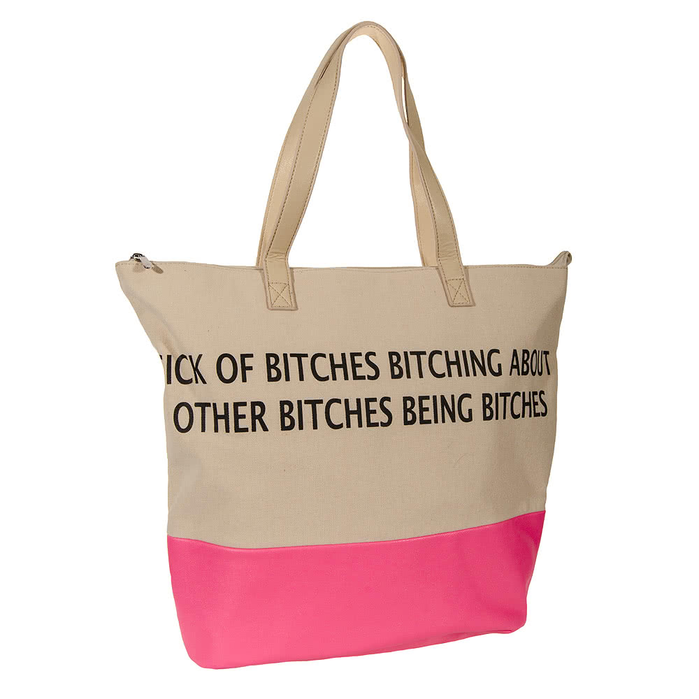Iron Fist Bitches Tote Bag (Beige)