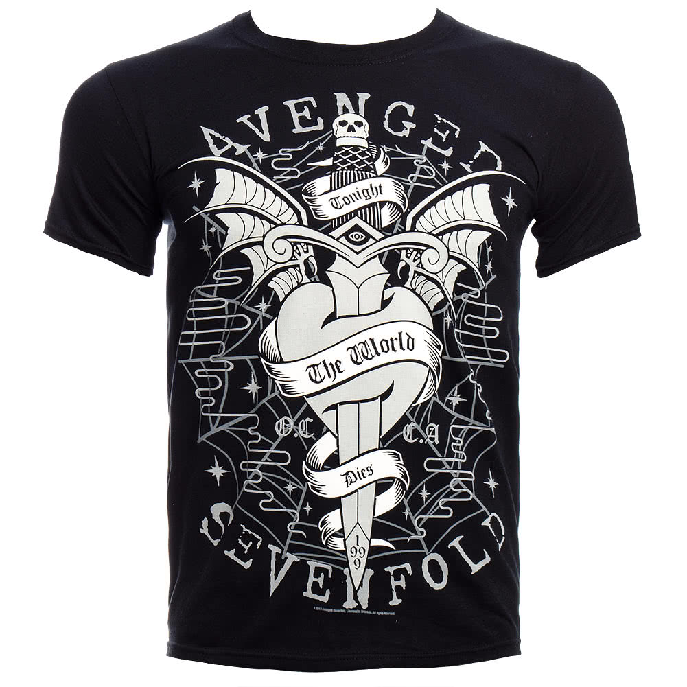Avenged Sevenfold Cloak And Dagger T Shirt (Black)