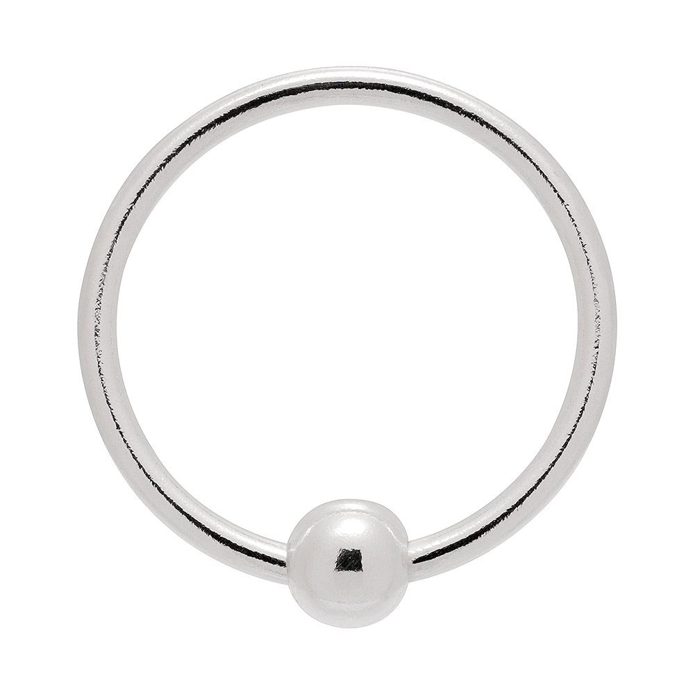 Blue Banana BCR Style Nose Ring 1.0 x 9mm (Silver)