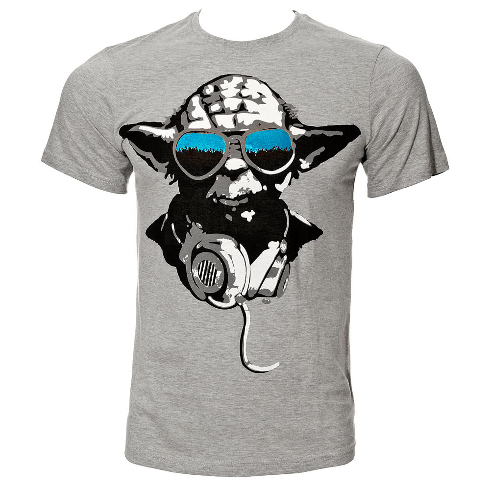 Star Wars Yoda Cool T Shirt (Grey)