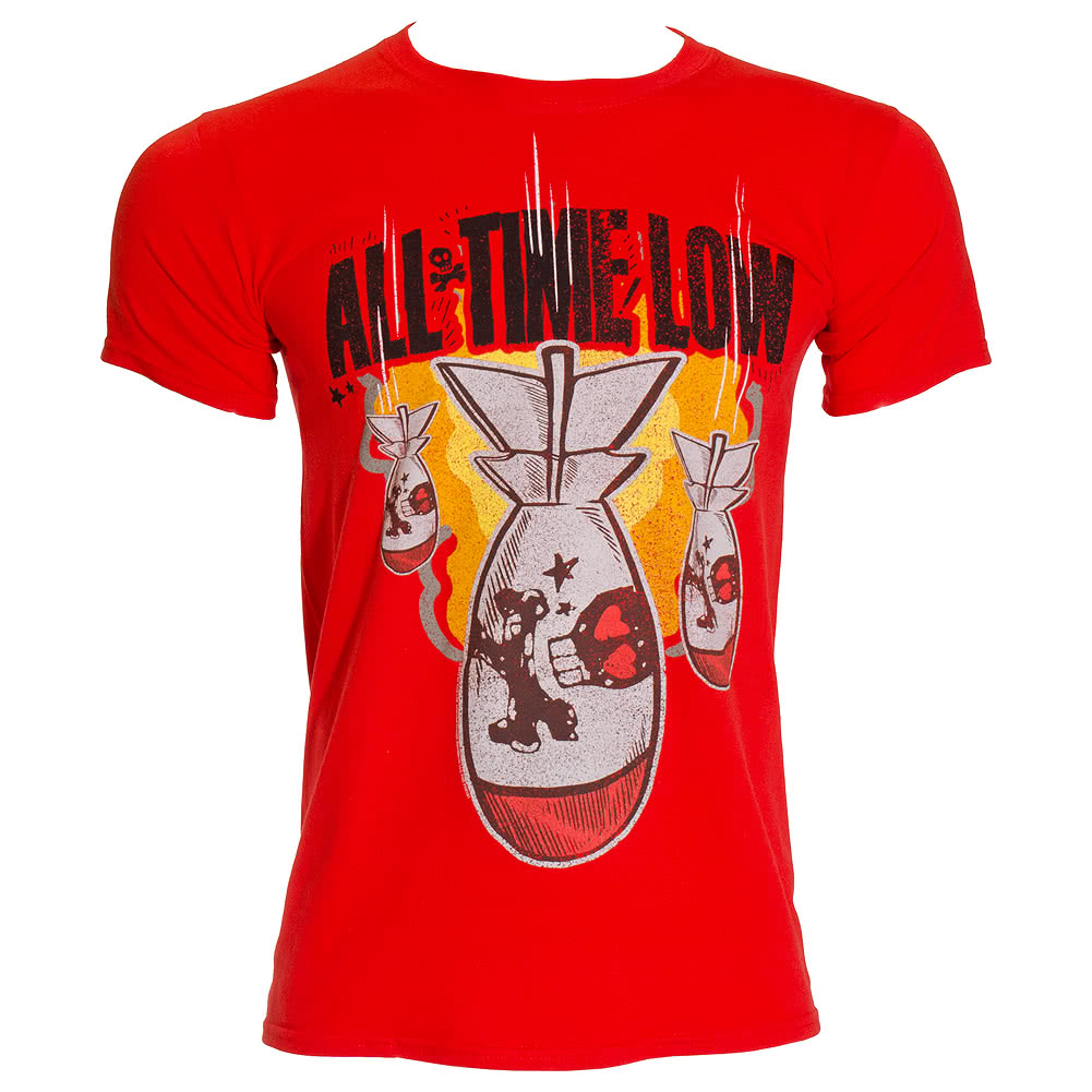 All Time Low Dabomb T Shirt (Red)