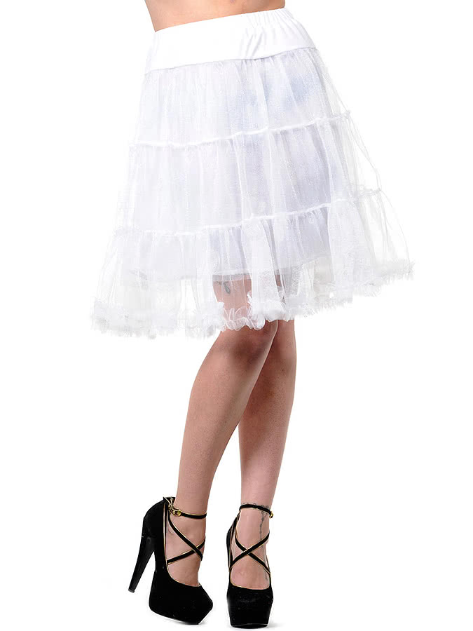 Banned Mid Petticoat (White)