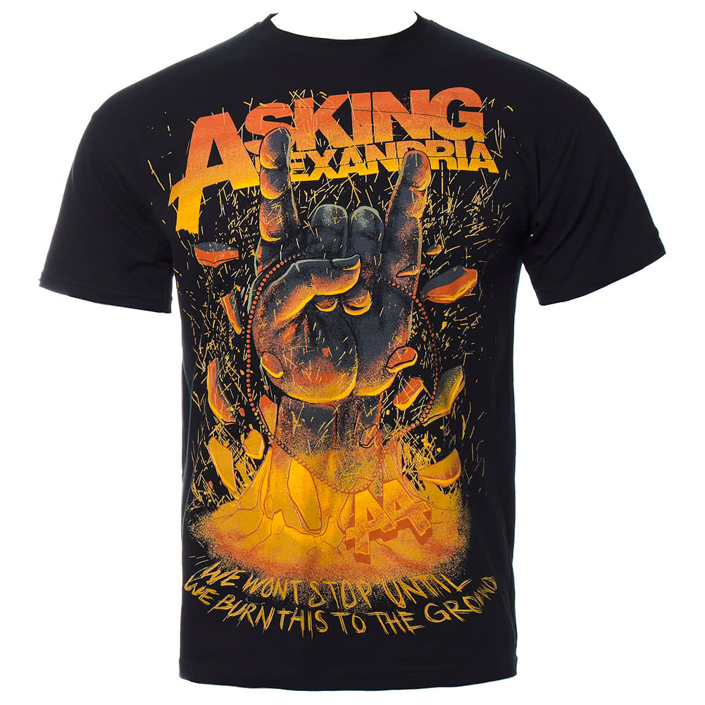 Asking Alexandria Metal Hands T Shirt (Black)