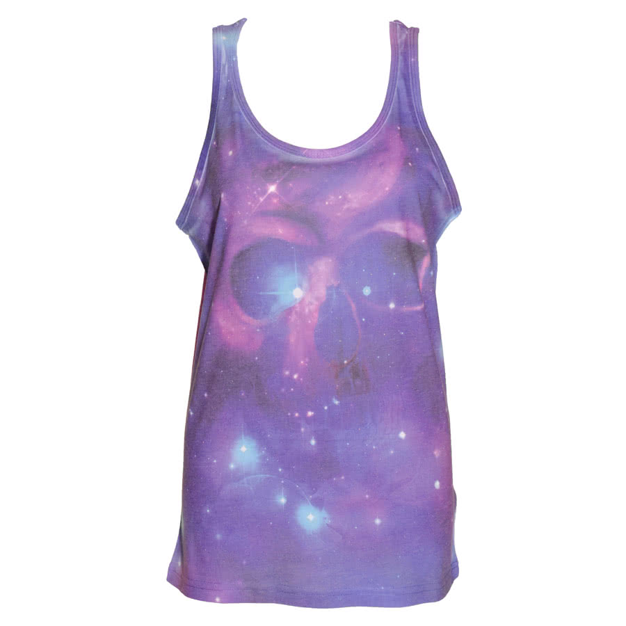 Cold Heart Space Skull Vest Top (Multi-Coloured)