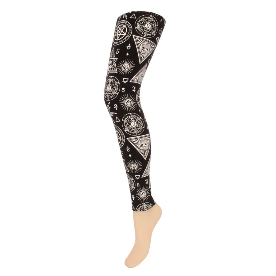 Jawbreaker Symbols Leggings (Black/White)