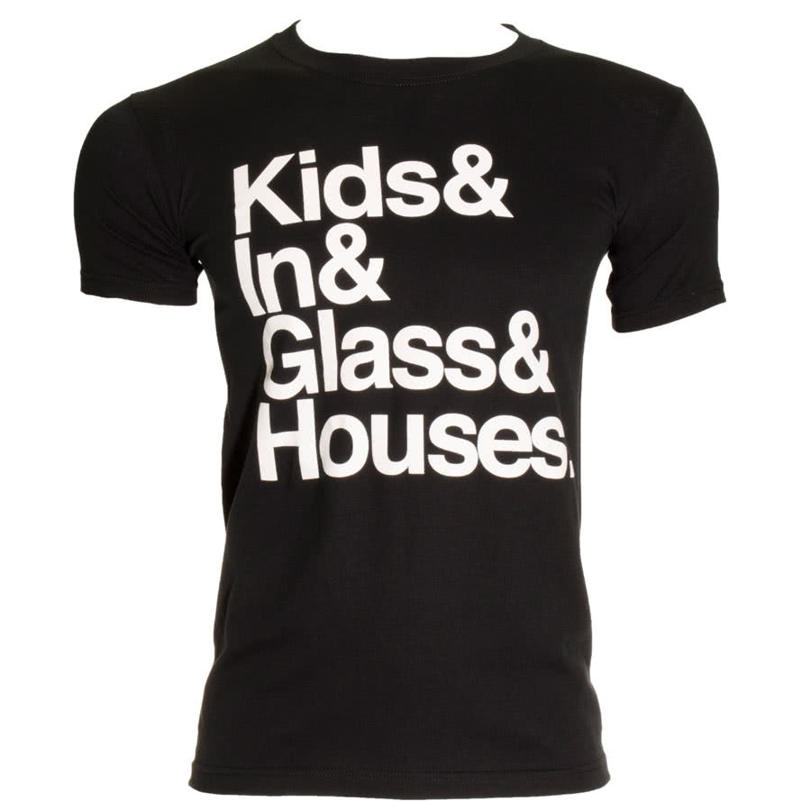 Kids In Glass Houses Kids & T Shirt (Black)