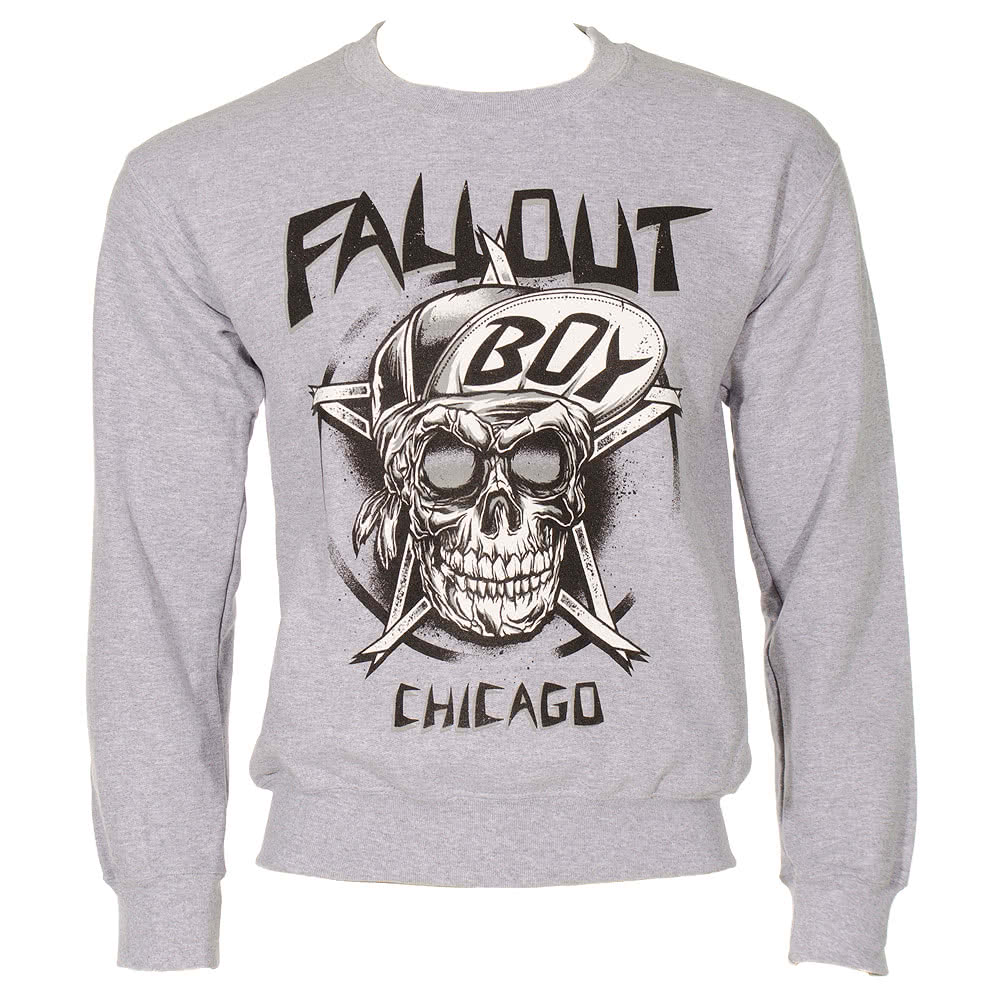 Fall Out Boy Skull Sweatshirt (Grey)