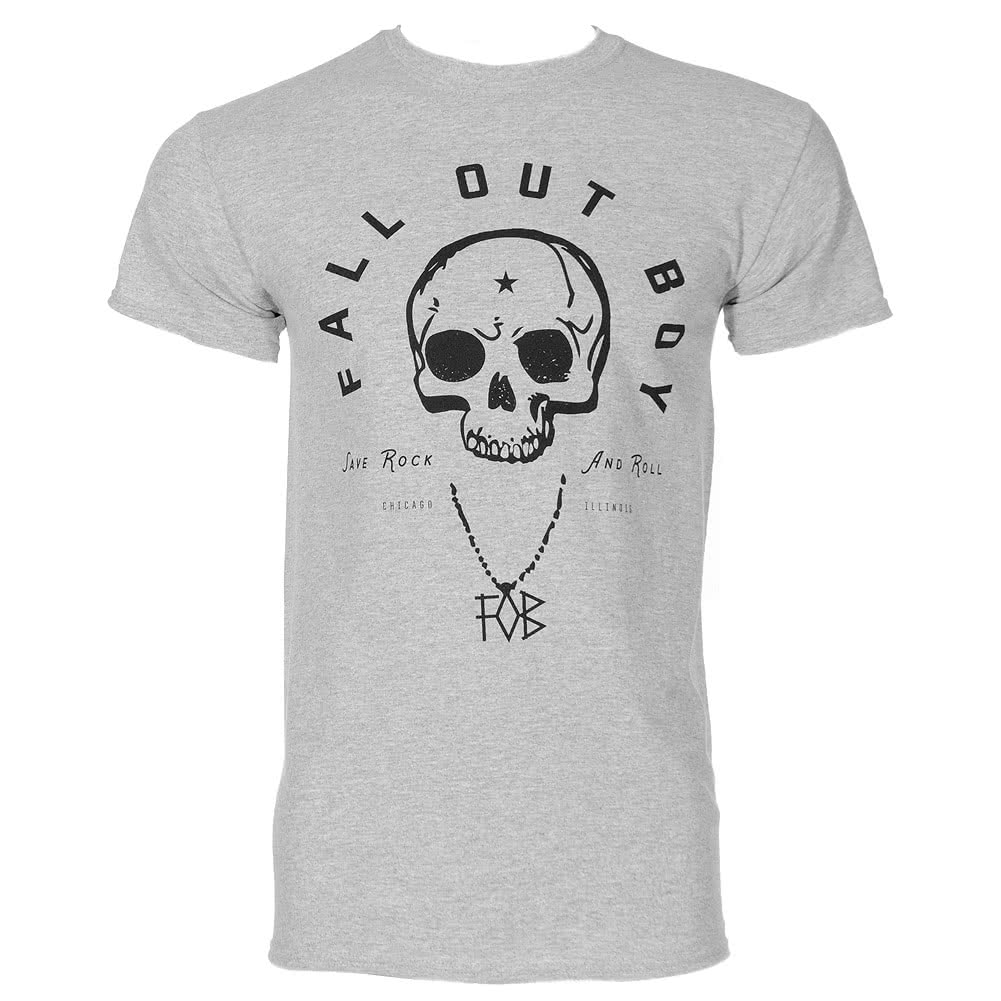Fall Out Boy Skull T Shirt (Grey)