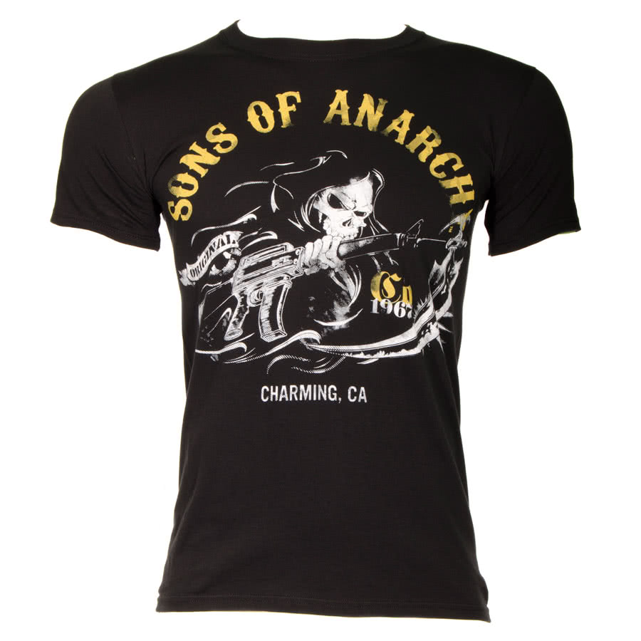 Sons Of Anarchy Charming 1967 T Shirt (Black)