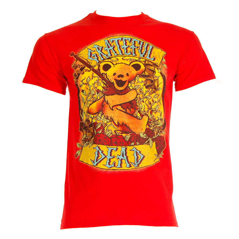 Grateful Dead Banner T Shirt (Red)