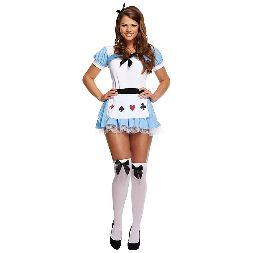 Alice Fancy Dress Costume (BlueWhite)