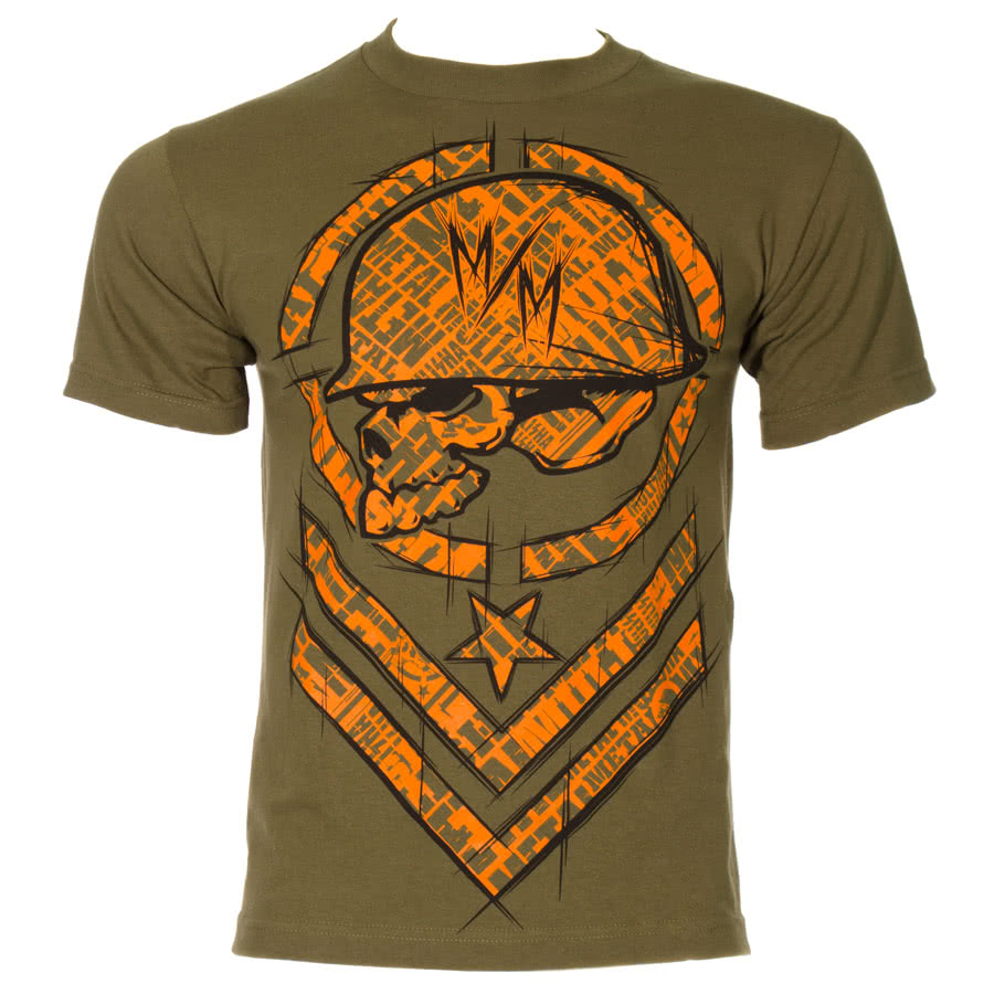 Metal Mulisha Shred Military T Shirt (Green)