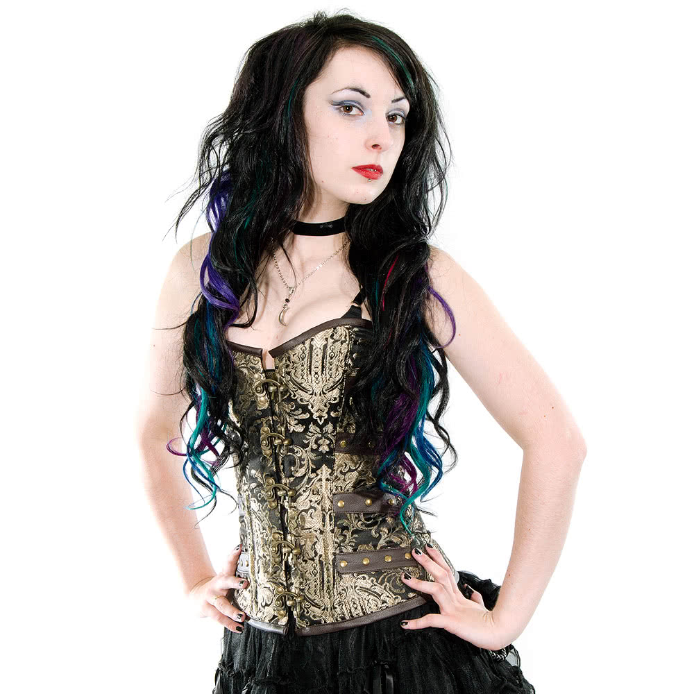 Burleska Overbust C-Lock Kings Gold Corset (Black/Gold)